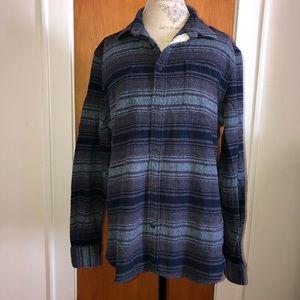 Jeffrey Max Mens Striped Western long sleeve shirt